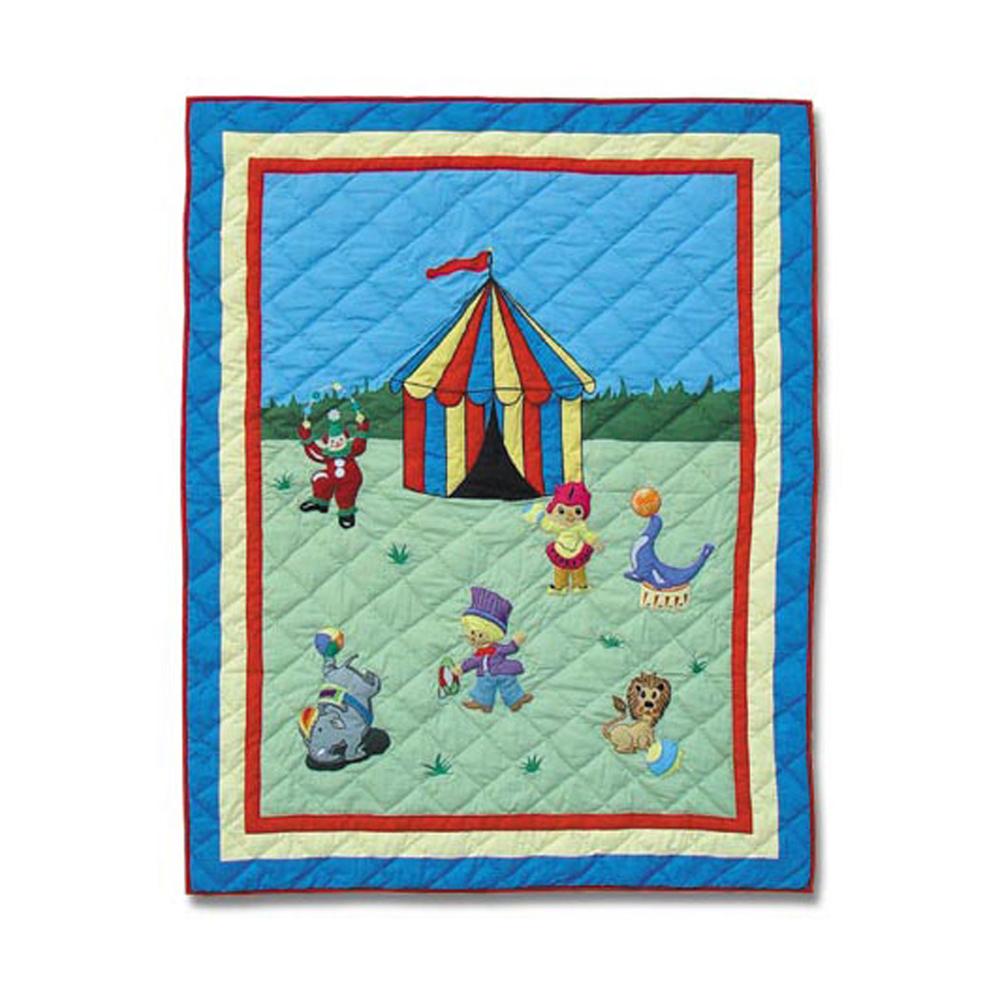 "Circus Crib Quilt 36""W x 46""L"