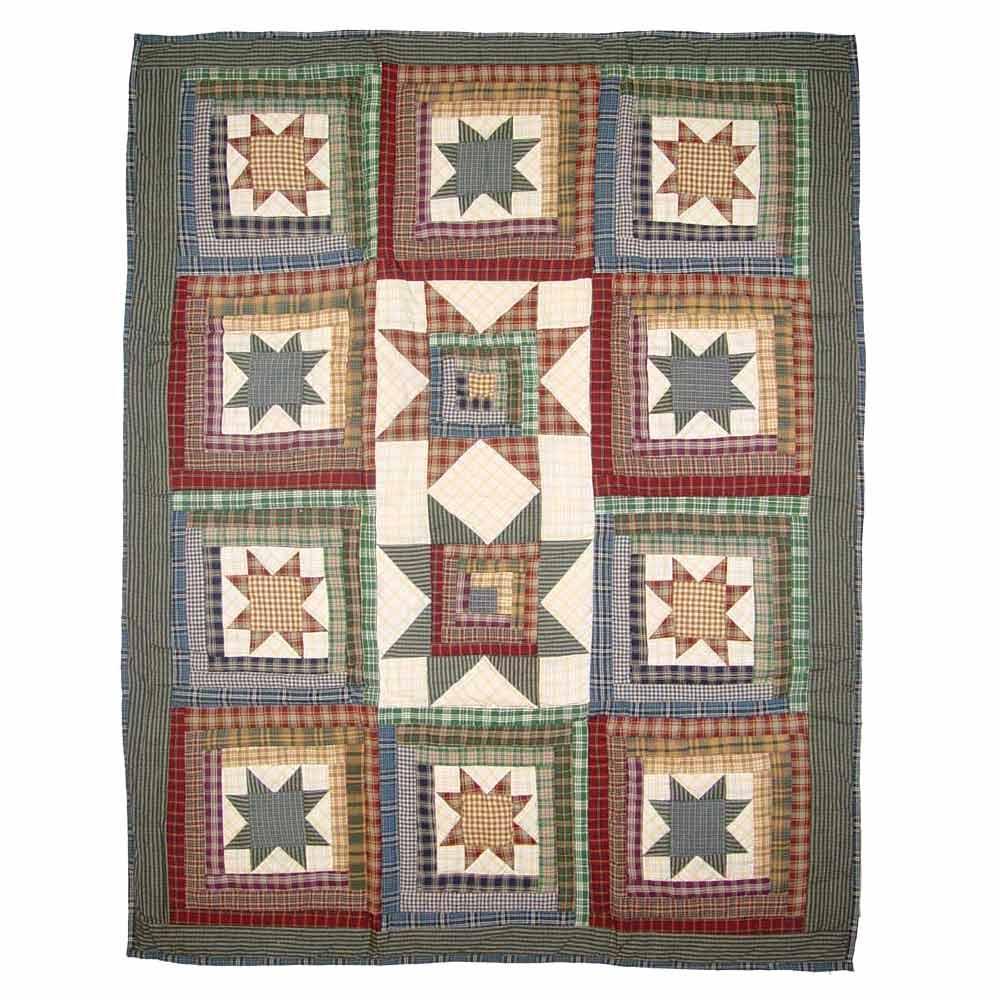 """Cottage Star crib quilt 36""""x 46"""""""