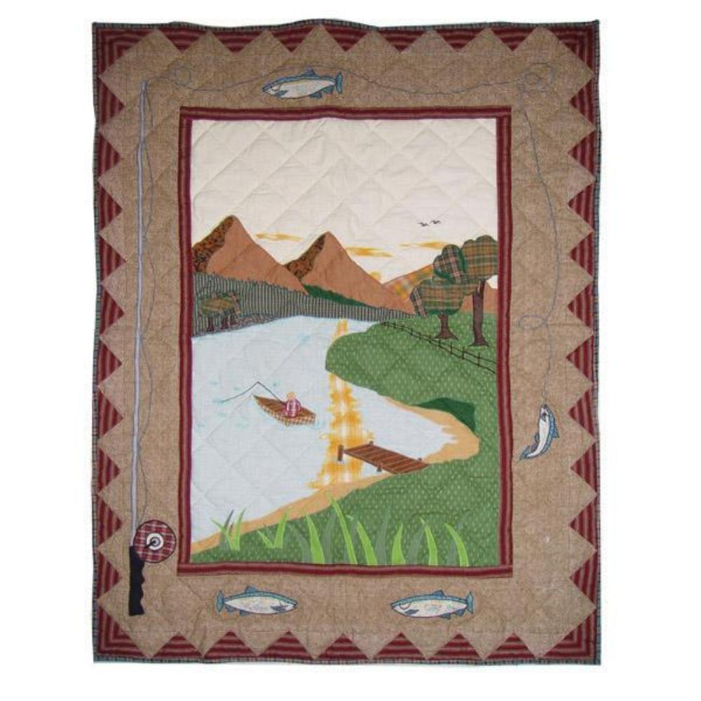 "Gone Fishing Crib Quilt 36""W x 46""L"