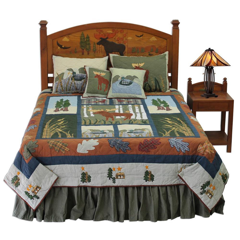 "Moose California King Quilt 114""W x 96""L"