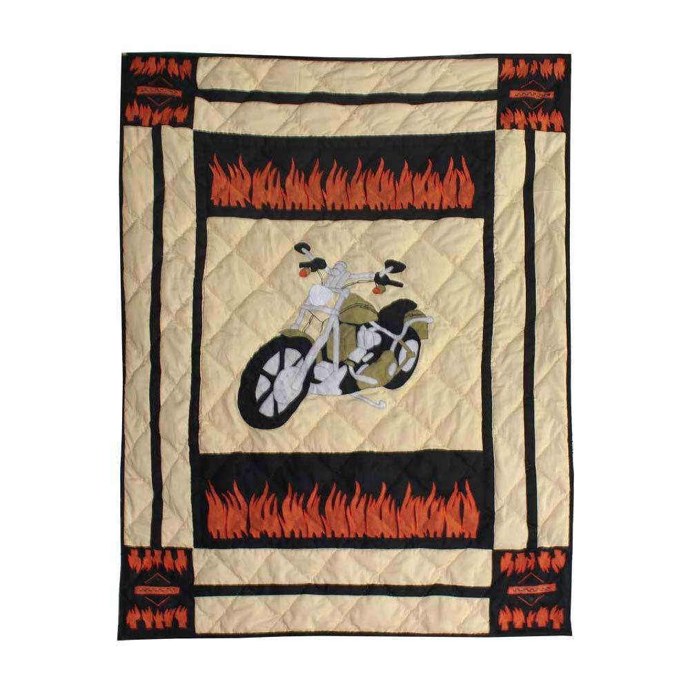 "Motor Cycle Crib Quilt 36""W x 46""L"