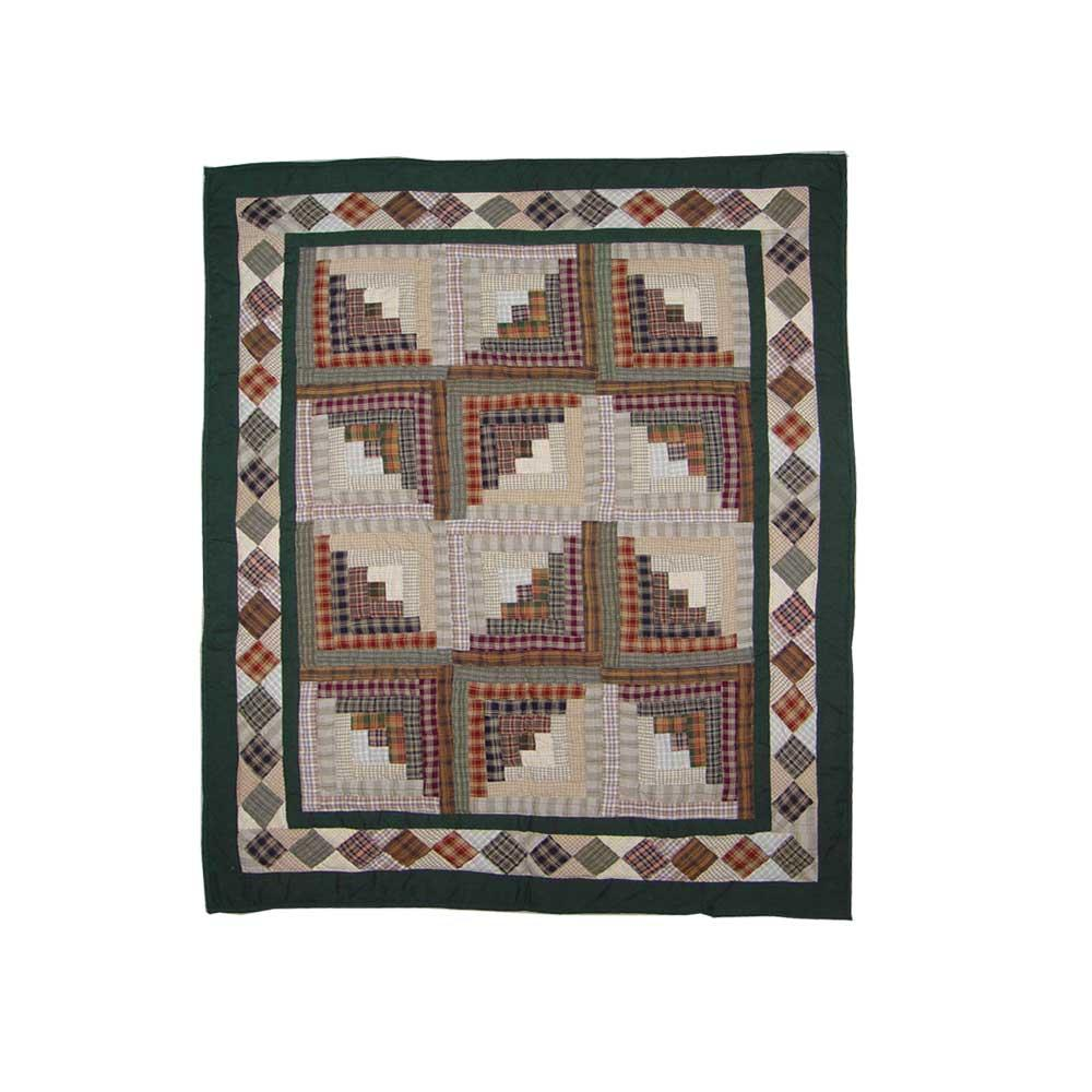 """Peasant Log Cabin Baby Quilt 36""""W x 46""""L"""