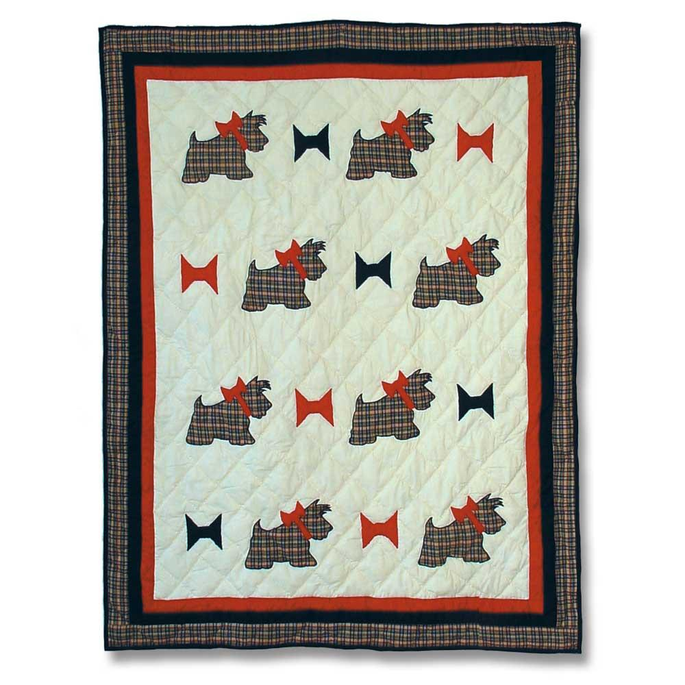 "Scottie Crib Quilt 36""W x 46""L"