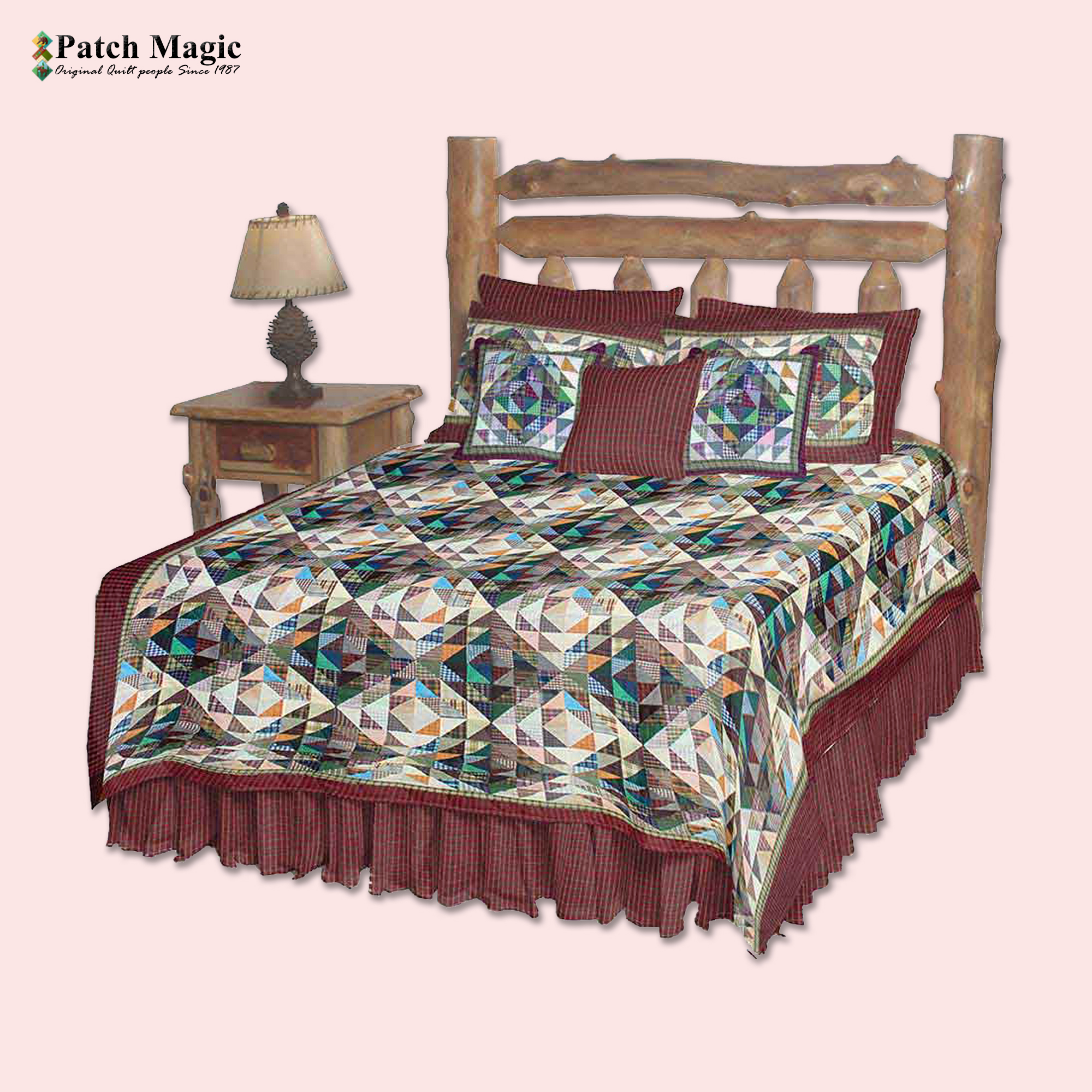 """Amazingly Red King Quilt 105""""W x 95""""L"""