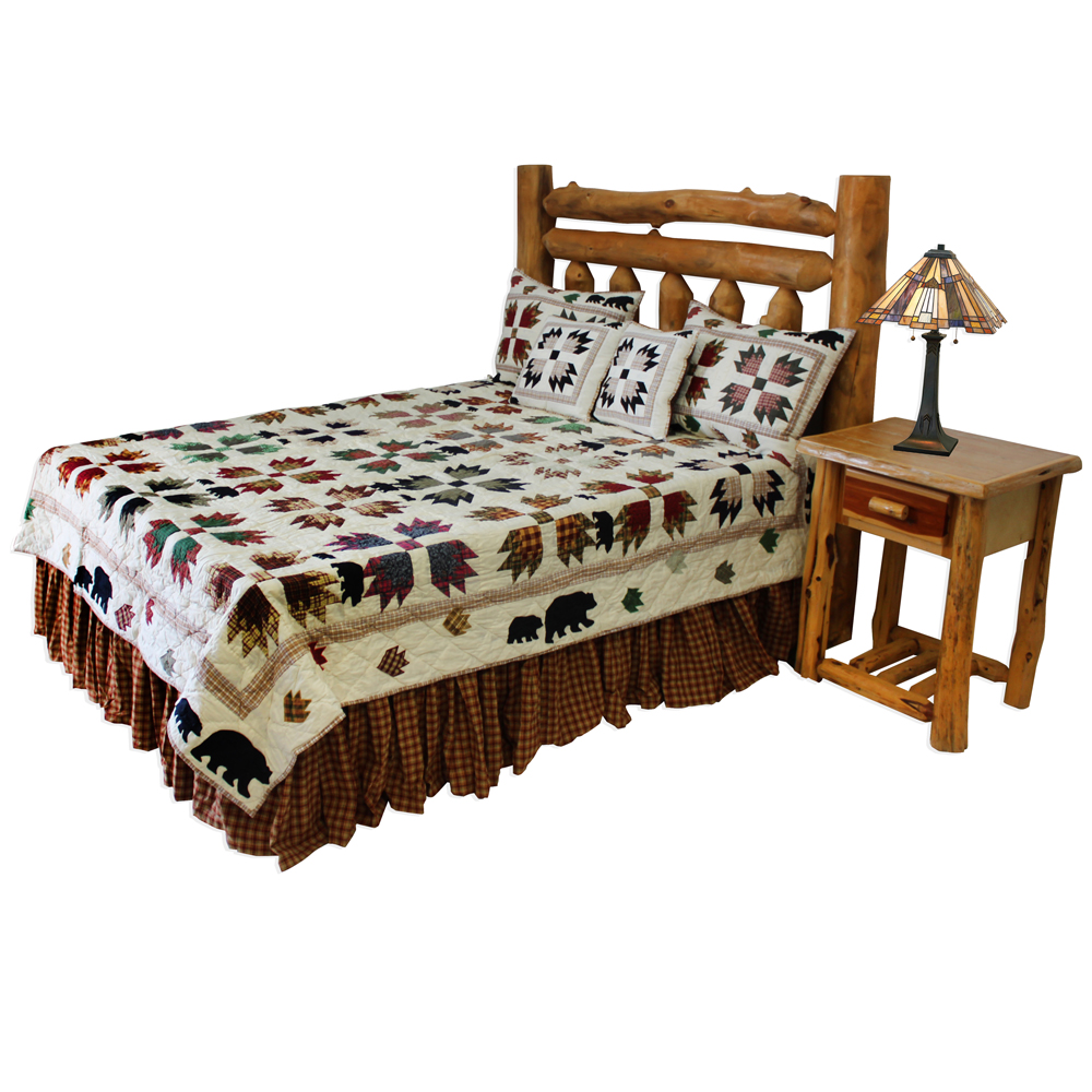 "Bear's Paw King Quilt 105""W x 95""L"