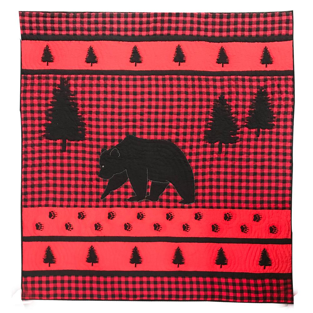 """Bear Track  King Quilt 105""""W x 95""""L"""