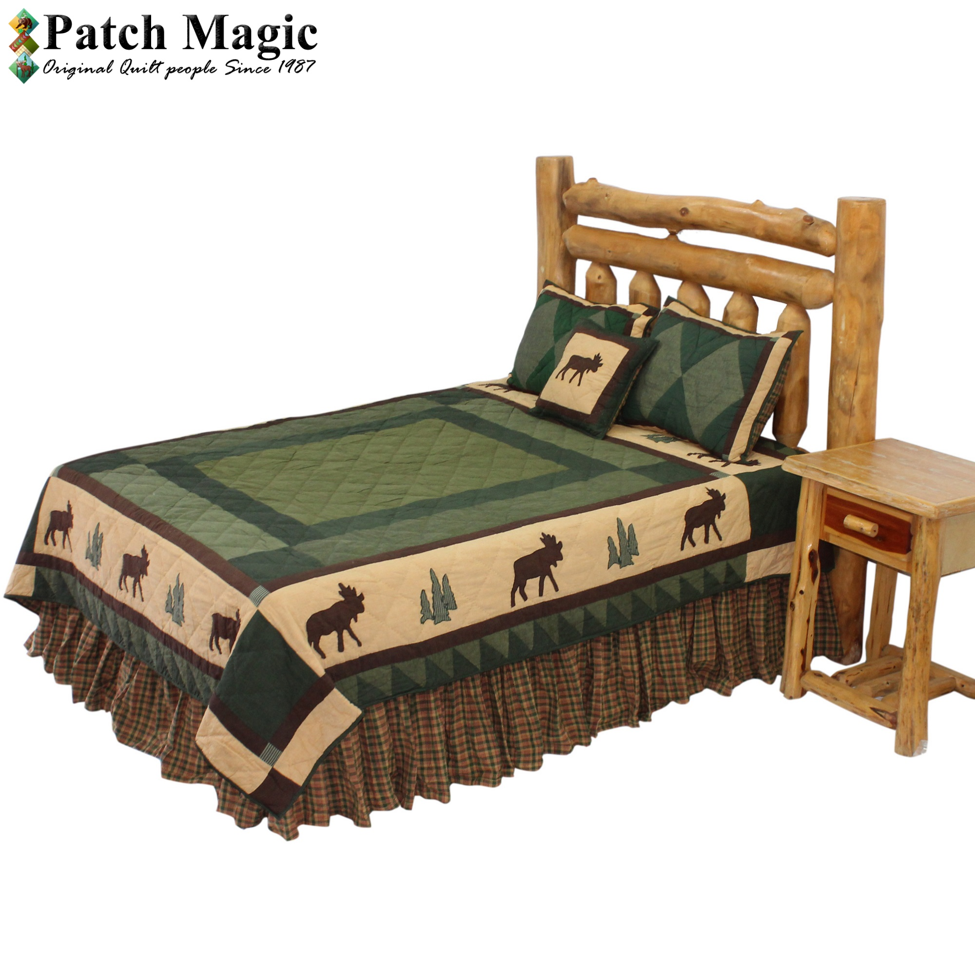 "Cedar Trail King Quilt 105""W x 95""L"