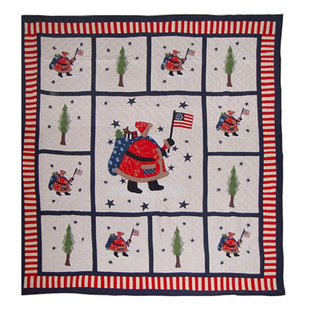 "Colonial Santa King Quilt 105""W x 95""L"