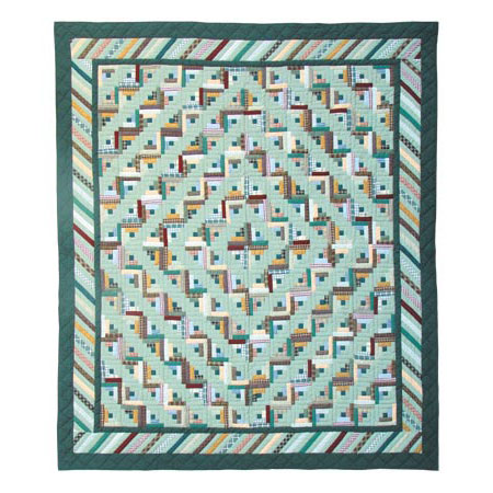 "Diamond Log Cabin King Quilt 105""W x 95""L"