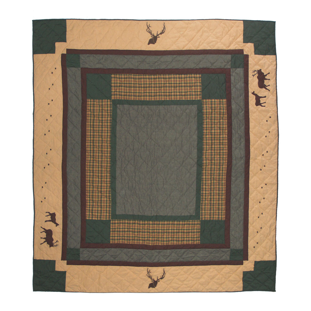"Elk Trail King Quilt 105""W x 95""L"
