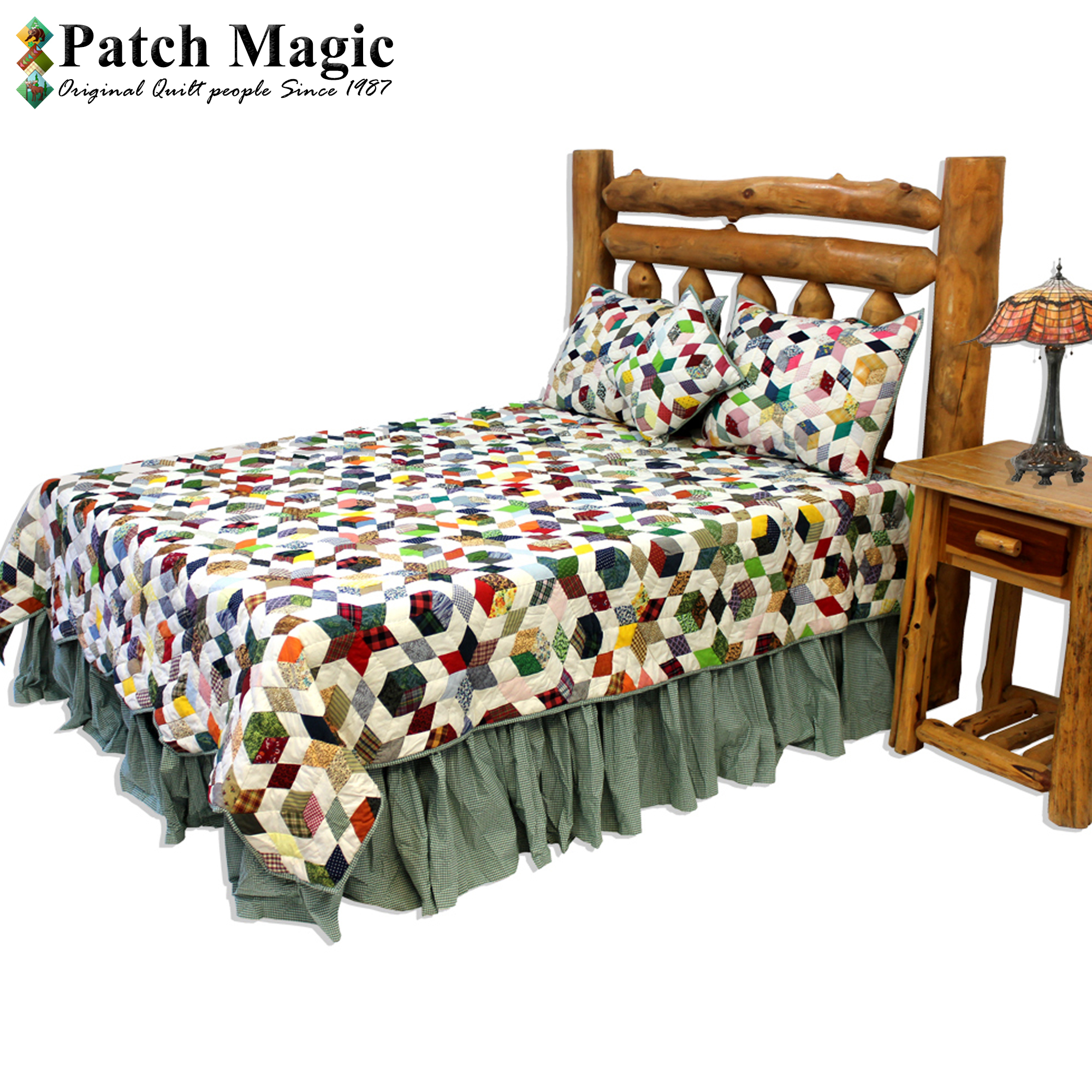 "Granma Memories King Quilt 105""W x 95""L"