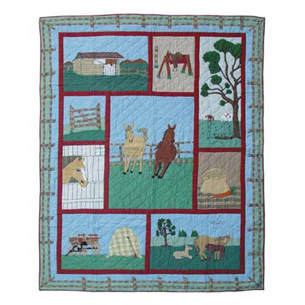 "Horse King Quilt 105""W x 95""L"