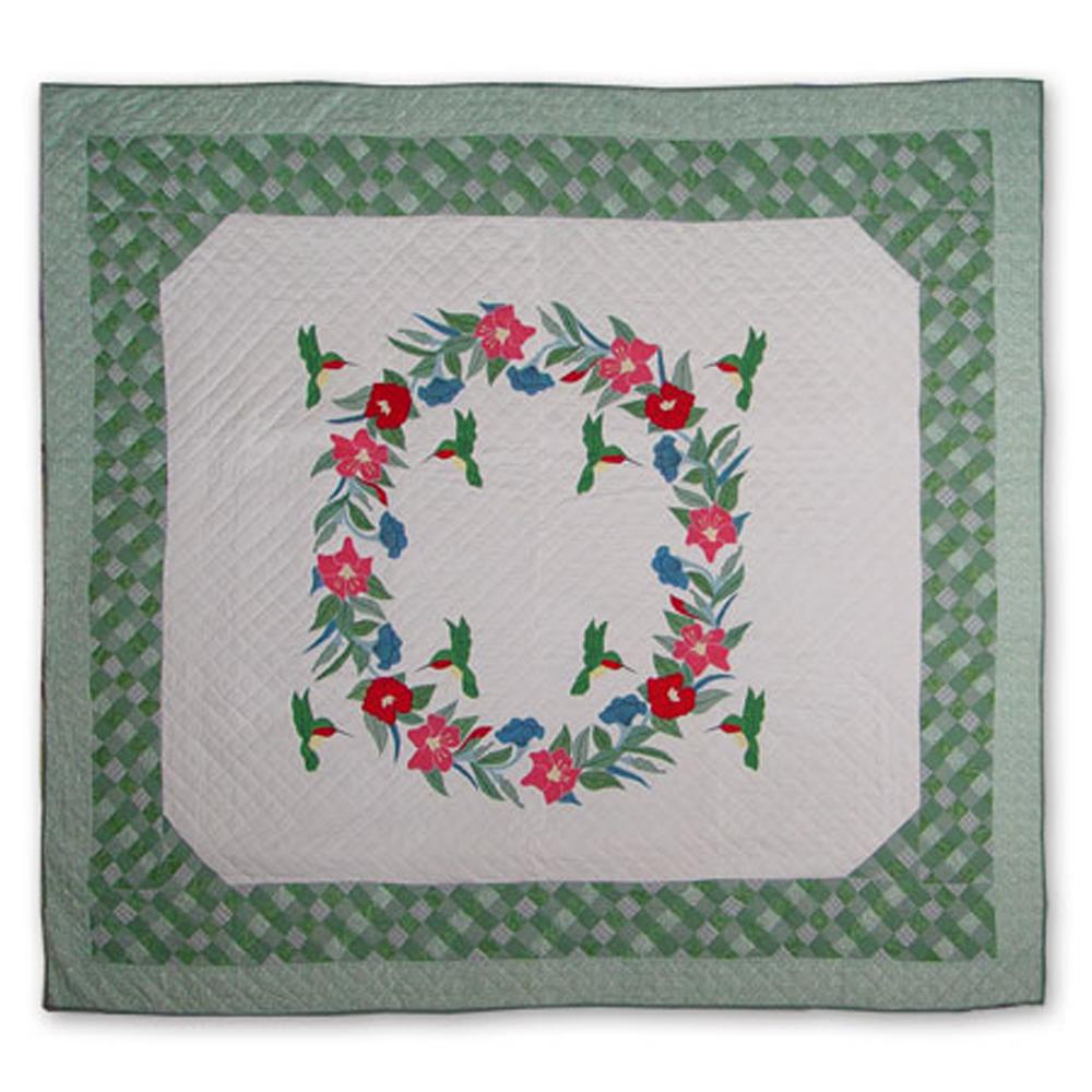 """Hummingbird King Quilt 105""""W x 95""""L"""