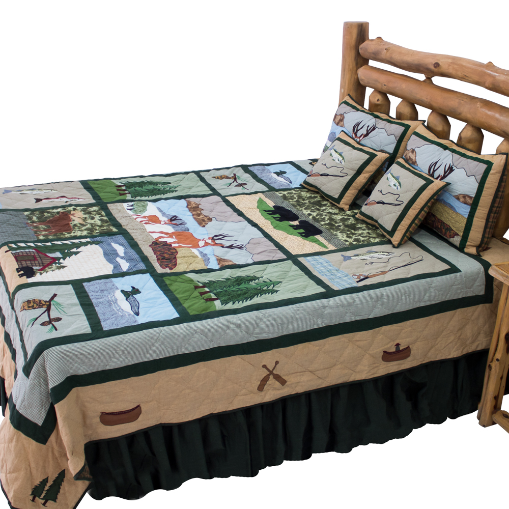 """Lodge Fever King Quilt 105""""W x 95""""L"""