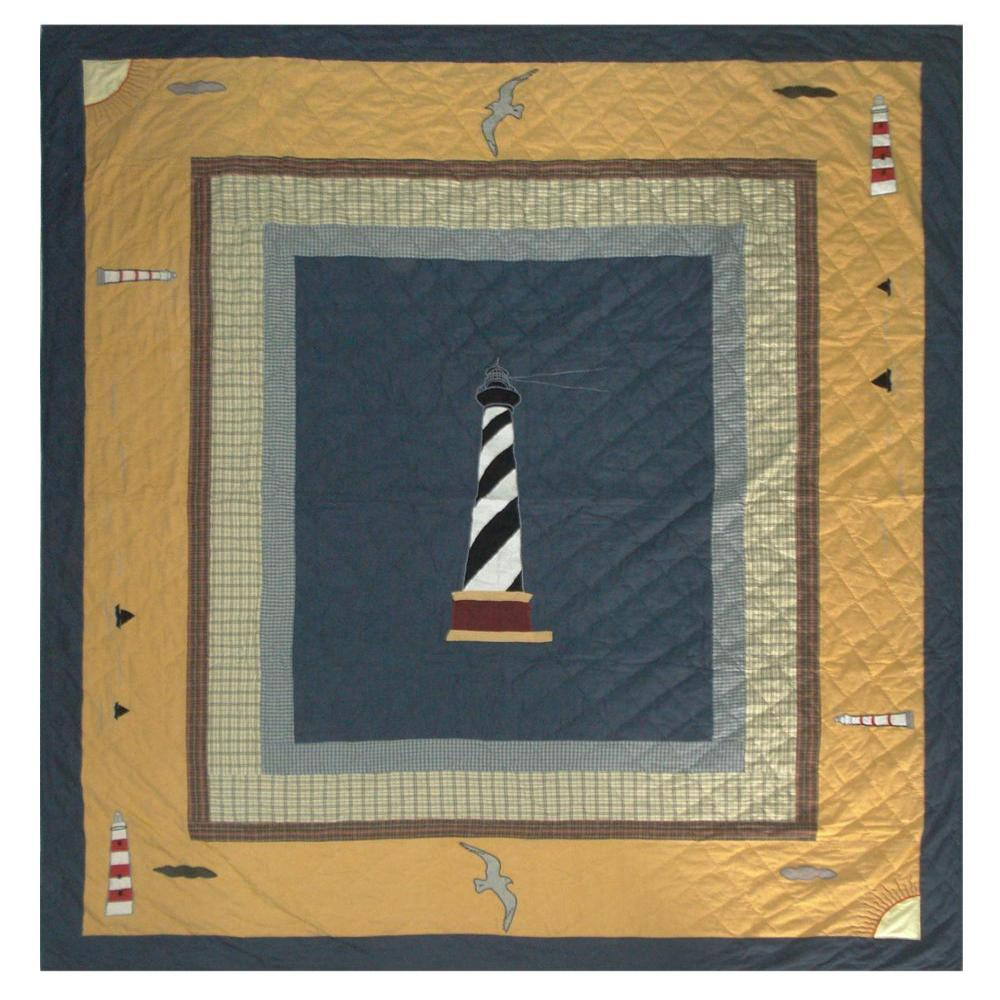 "Light House Trail King Quilt 105""W x 95""L"