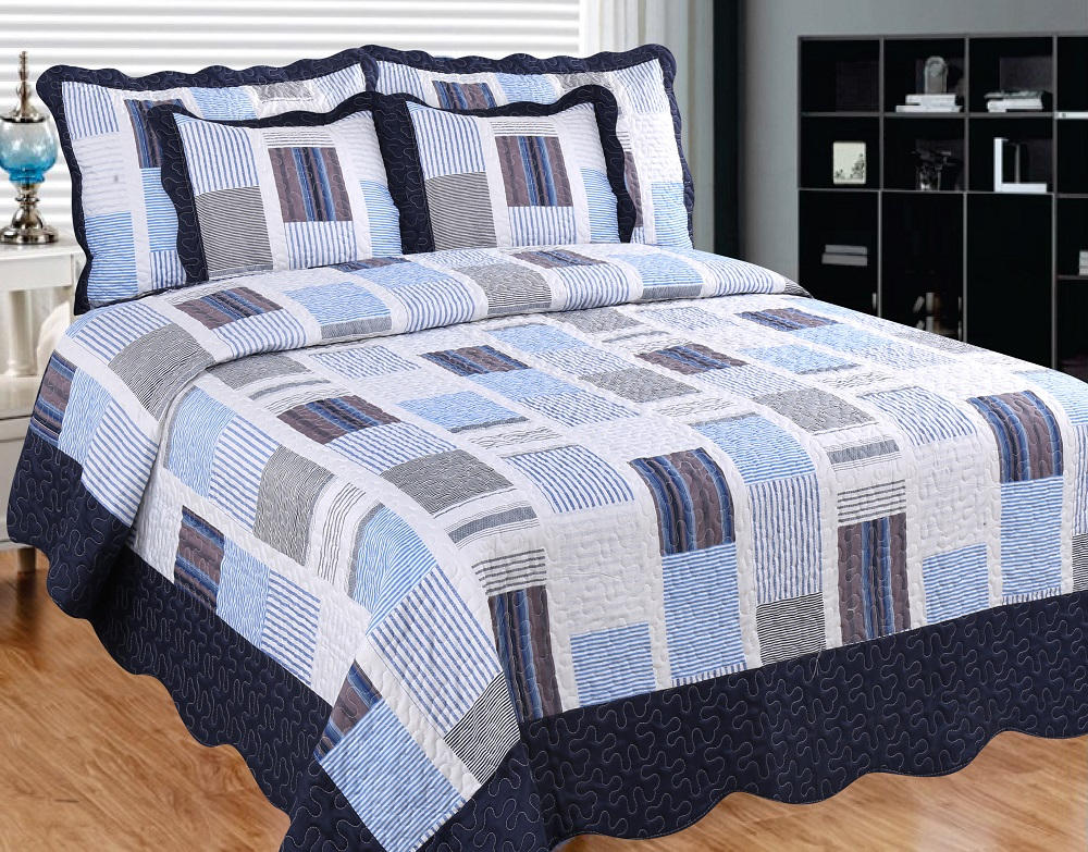 Miles and Miles Quilt with Pillow Shams by Patch Magic