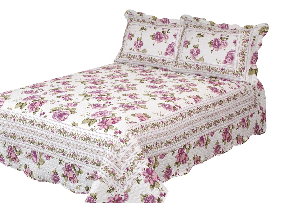 Peony Bloom Quilt with Pillow Shams by Patch Magic