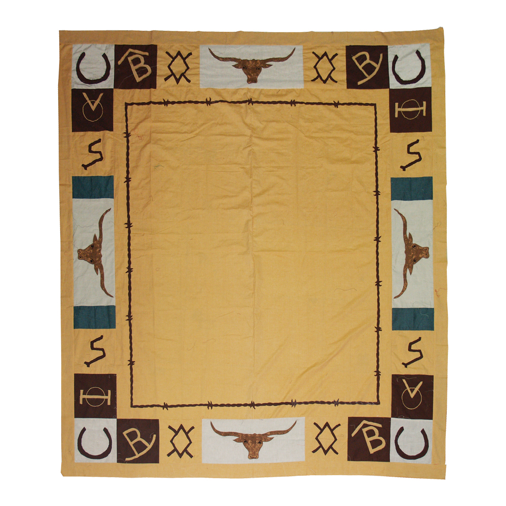 "Ranch House King Quilt 105""W x 95""L"