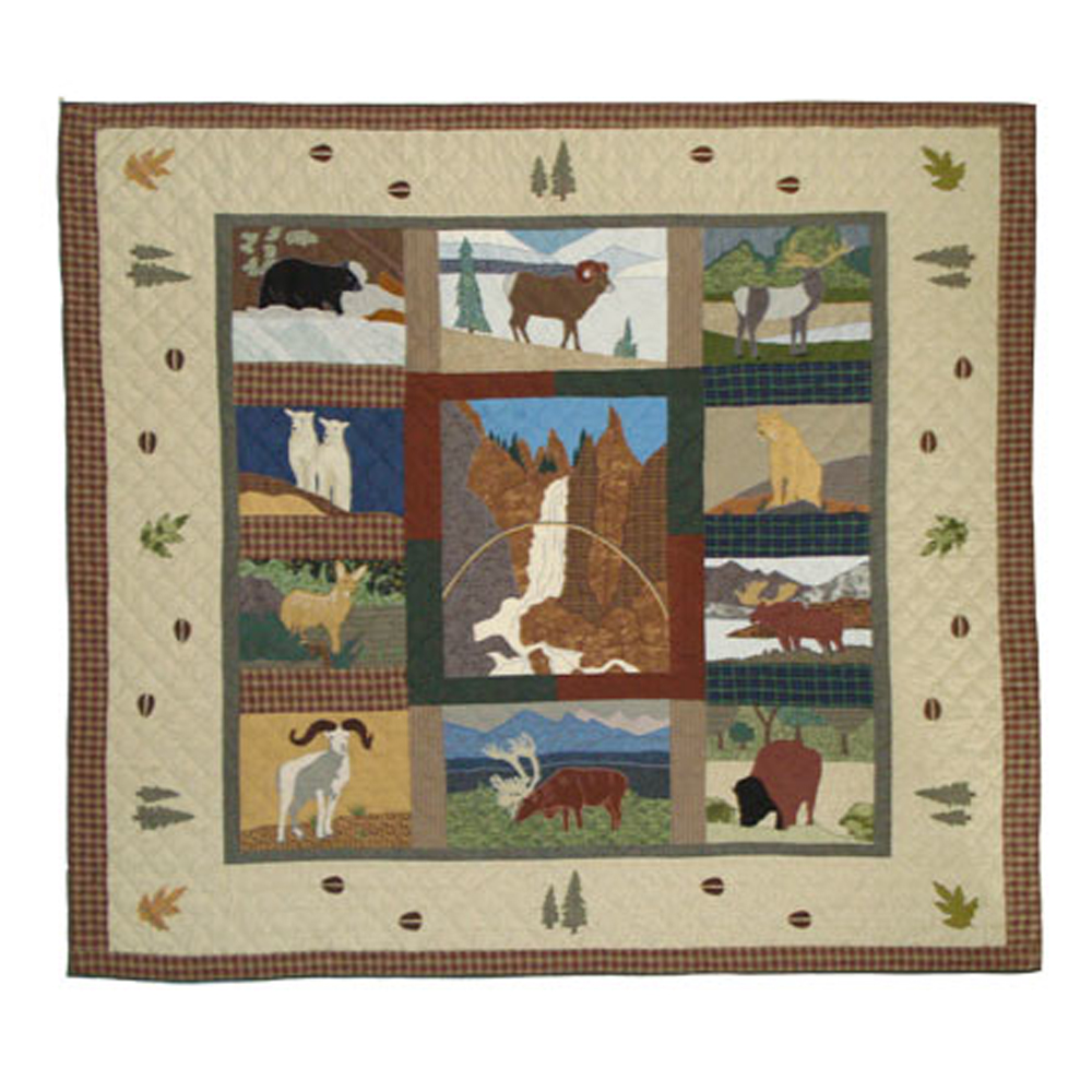 "Rocky Mountain King Quilt 105""W x 95""L"