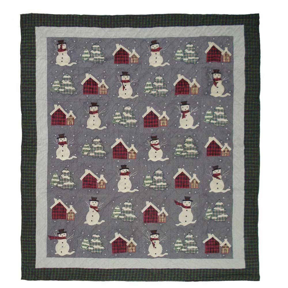 """Snowman King Quilt 105""""W x 95""""L"""