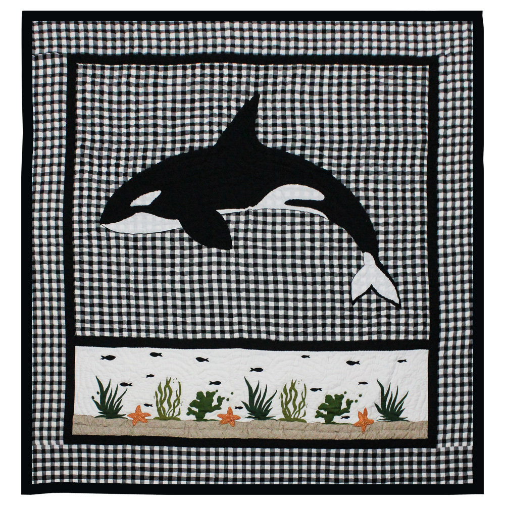 "Orca Luxury King Quilt 120""W x 106""L"