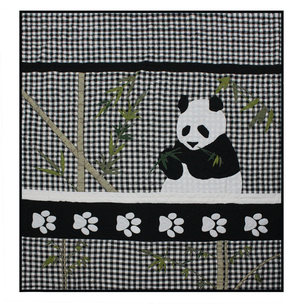 "Panda Luxury King Quilt 120""W x 106""L"
