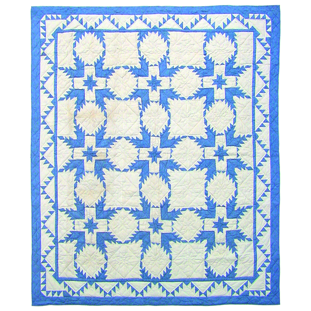 "Feathered Star Queen Quilt 85""W x 95""L"
