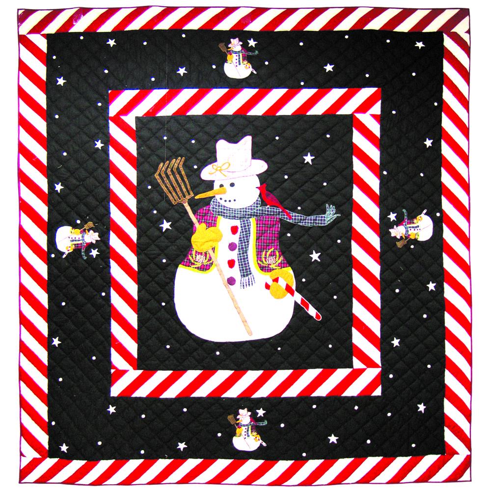 """Frosty Snowman Queen Quilt 85""""W x 95""""L"""