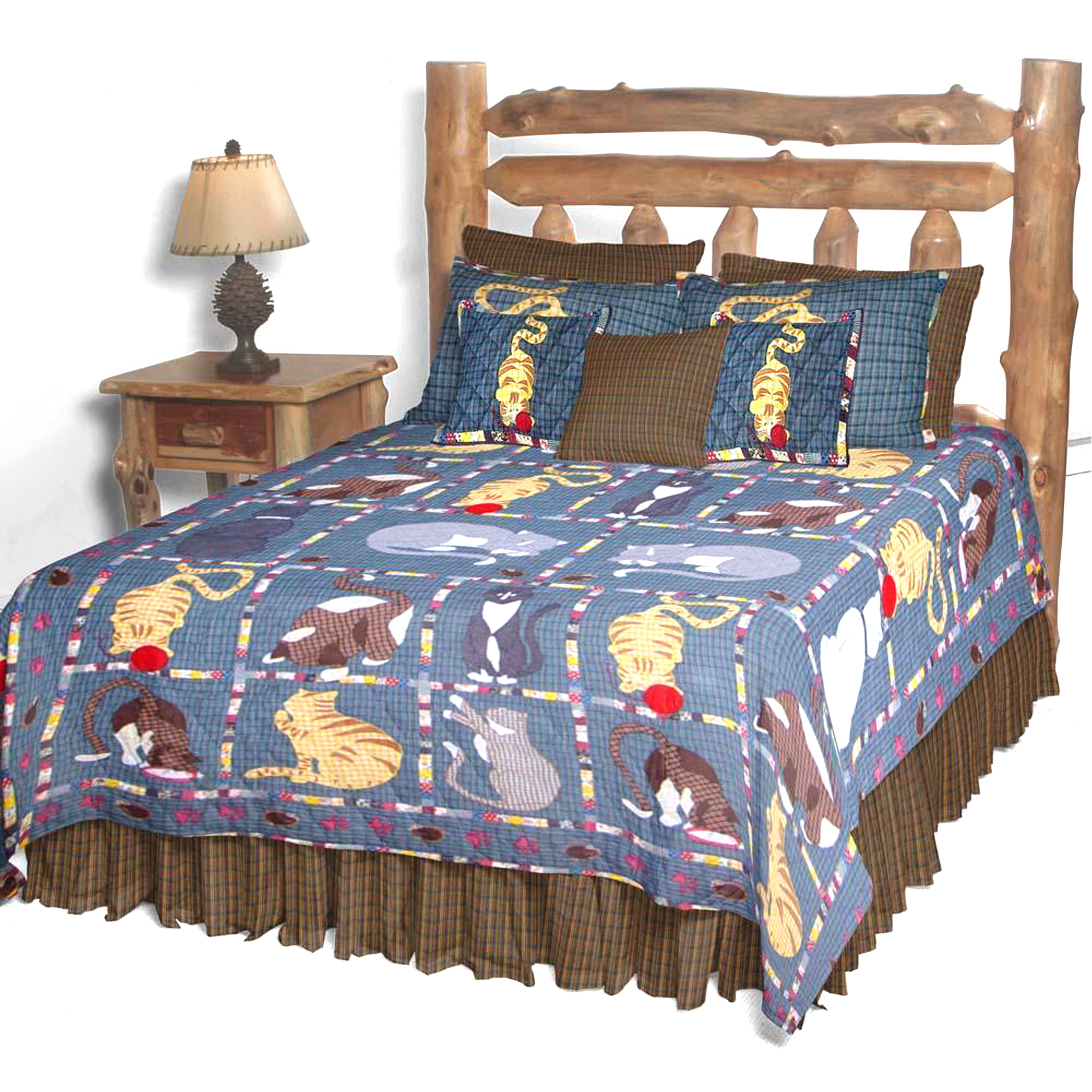 "Kitty Cats Queen Quilt 85""W x 95""L"