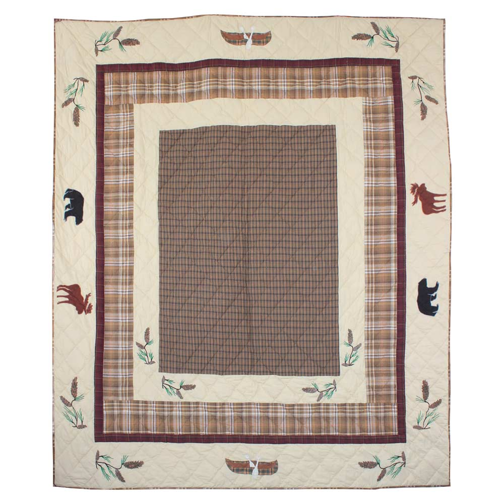 "Pinecone Trail Queen Quilt 85""W x 95""L"
