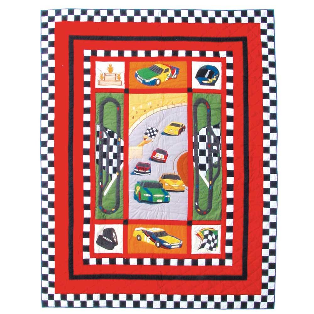 """Racecar Queen Quilt 85""""W x 95""""L"""