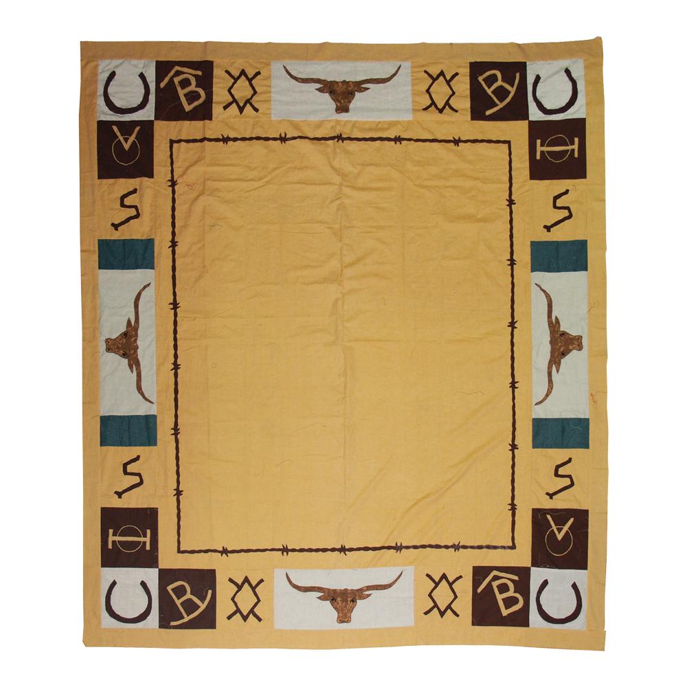 "Ranch House Queen Quilt 85""W x 95""L"