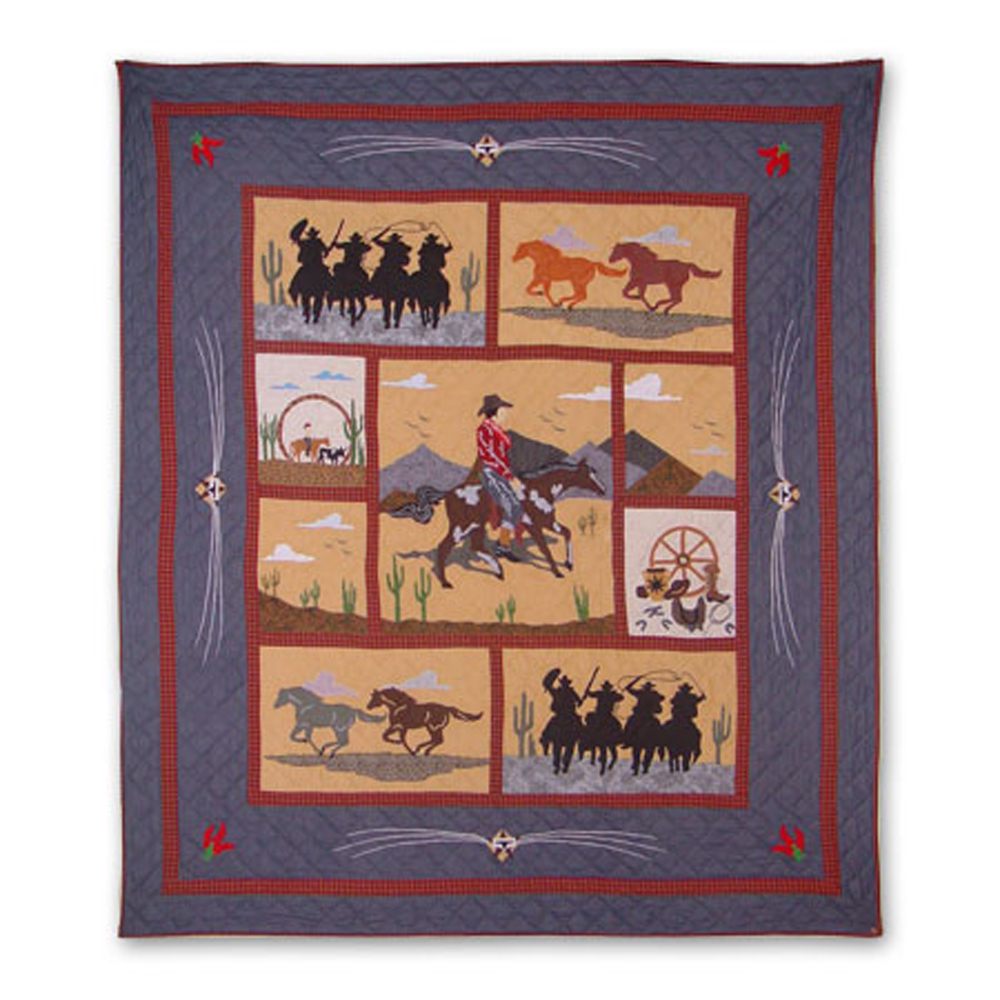 """Shadow Riders Queen Quilt 85""""W x 95""""L"""