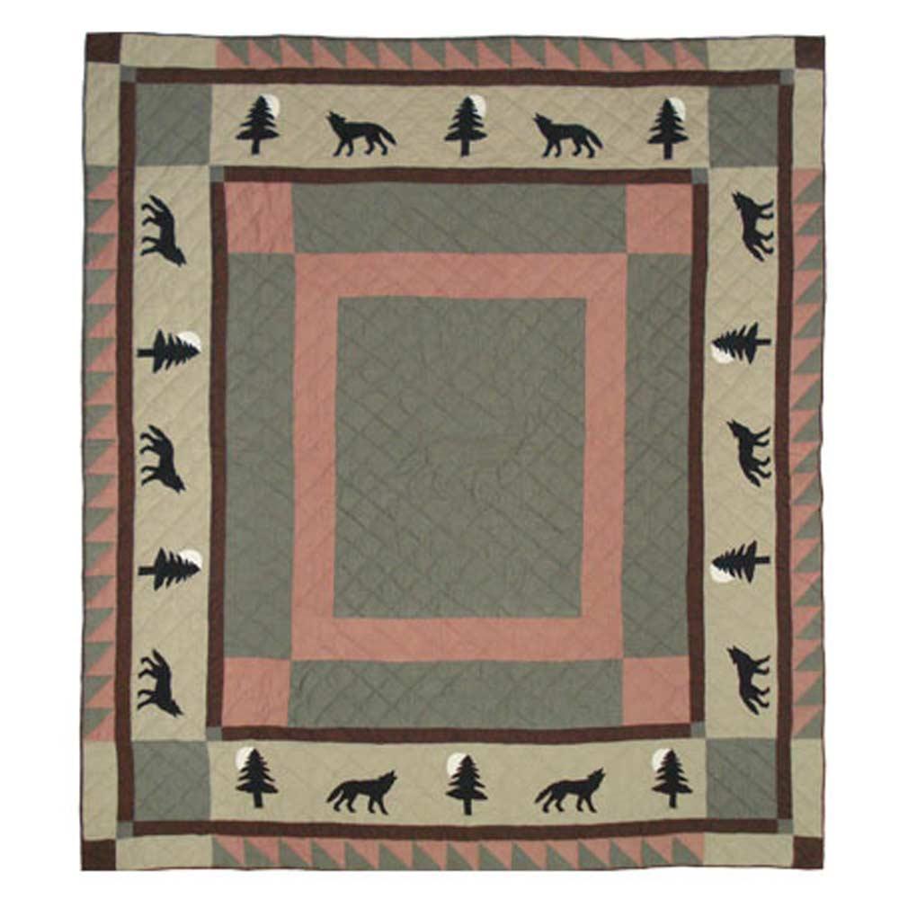 """Wolf Trail Queen Quilt 85""""W x 95""""L"""