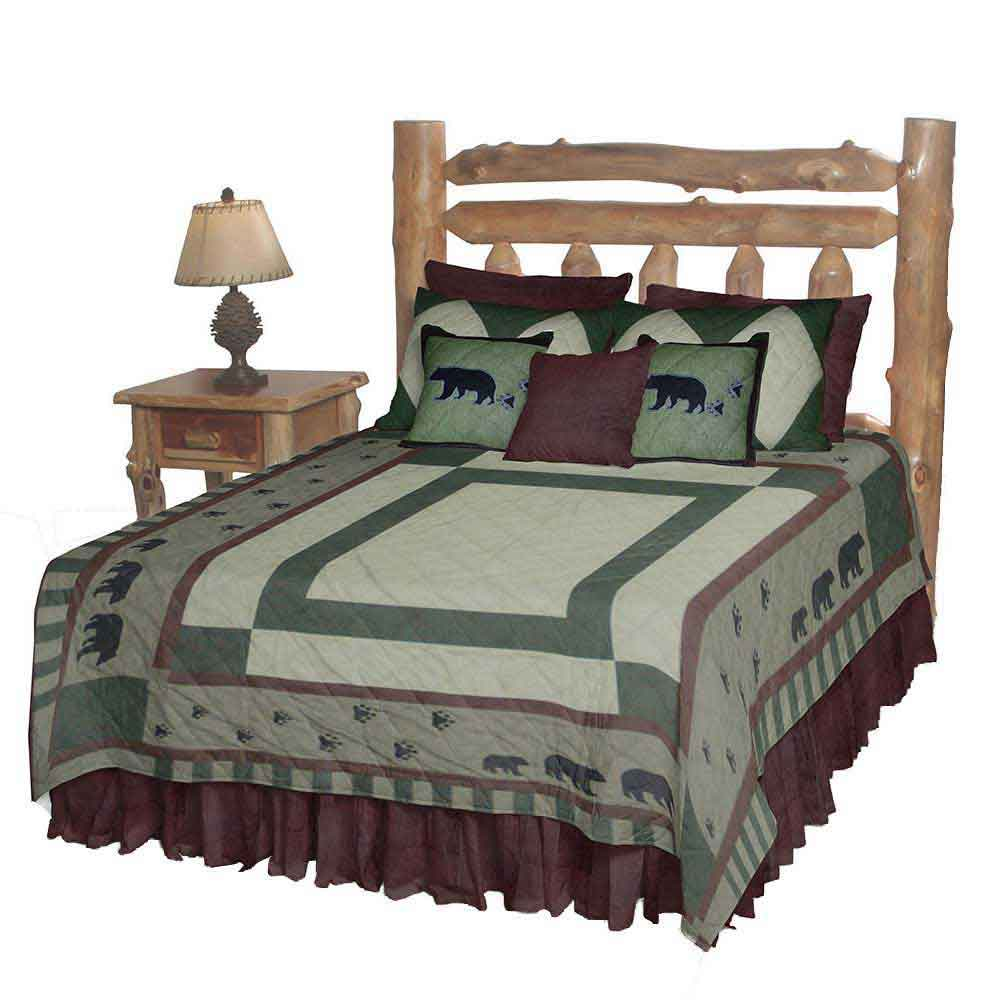 "Bear Trail Twin Quilt 65""W x 85""L"