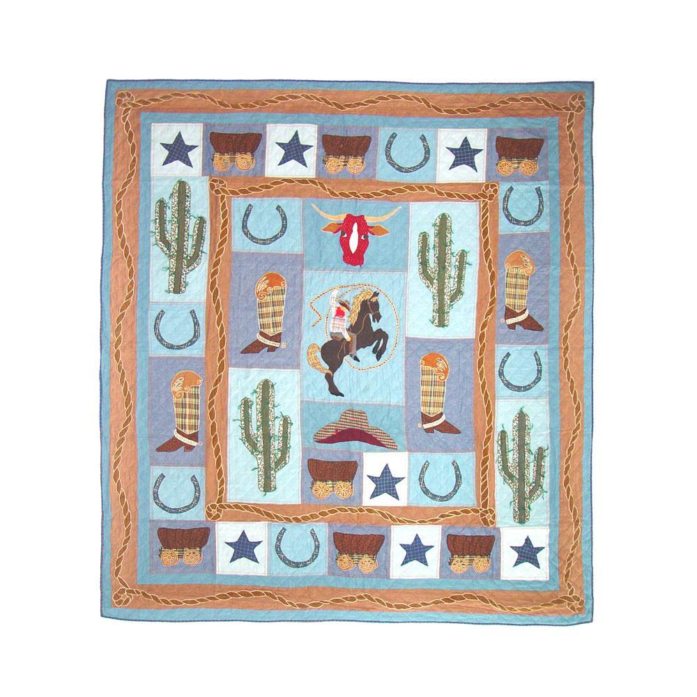 "Cowboy Twin Quilt 65""W x 85""L"