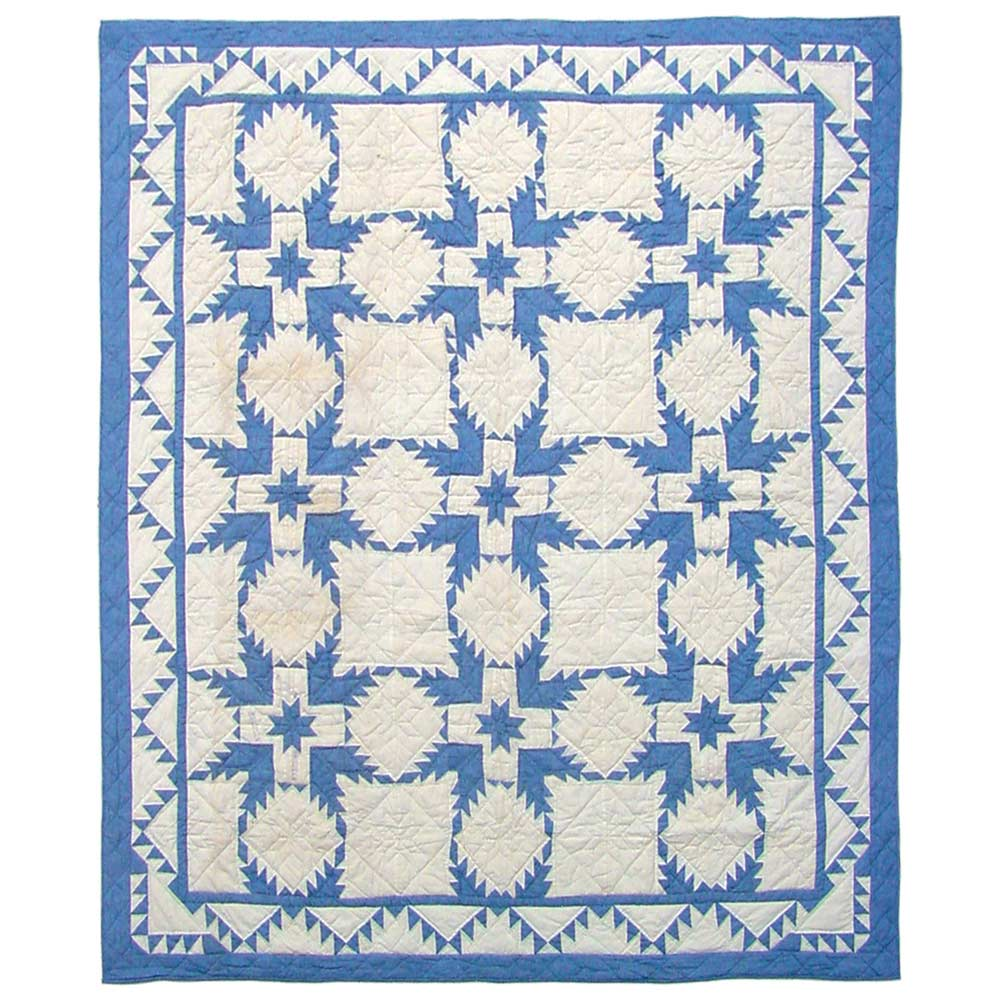 "Feathered Star,quilt twin 65""w x 85""l"