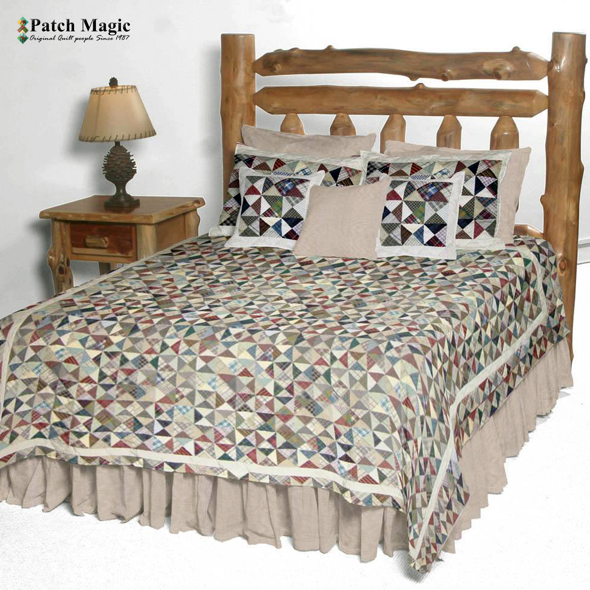 """Kaleidoscope Twin Quilt 65""""W x 85""""L"""