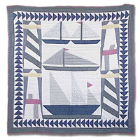 """Light and sails Twin Quilt 65""""W x 85""""L"""