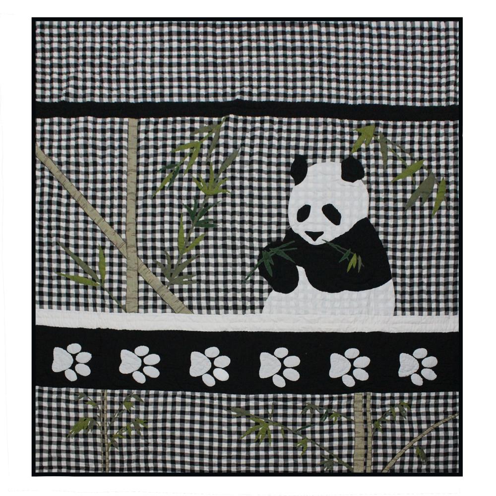 """Panda Twin Quilt 65""""W x 85""""L"""