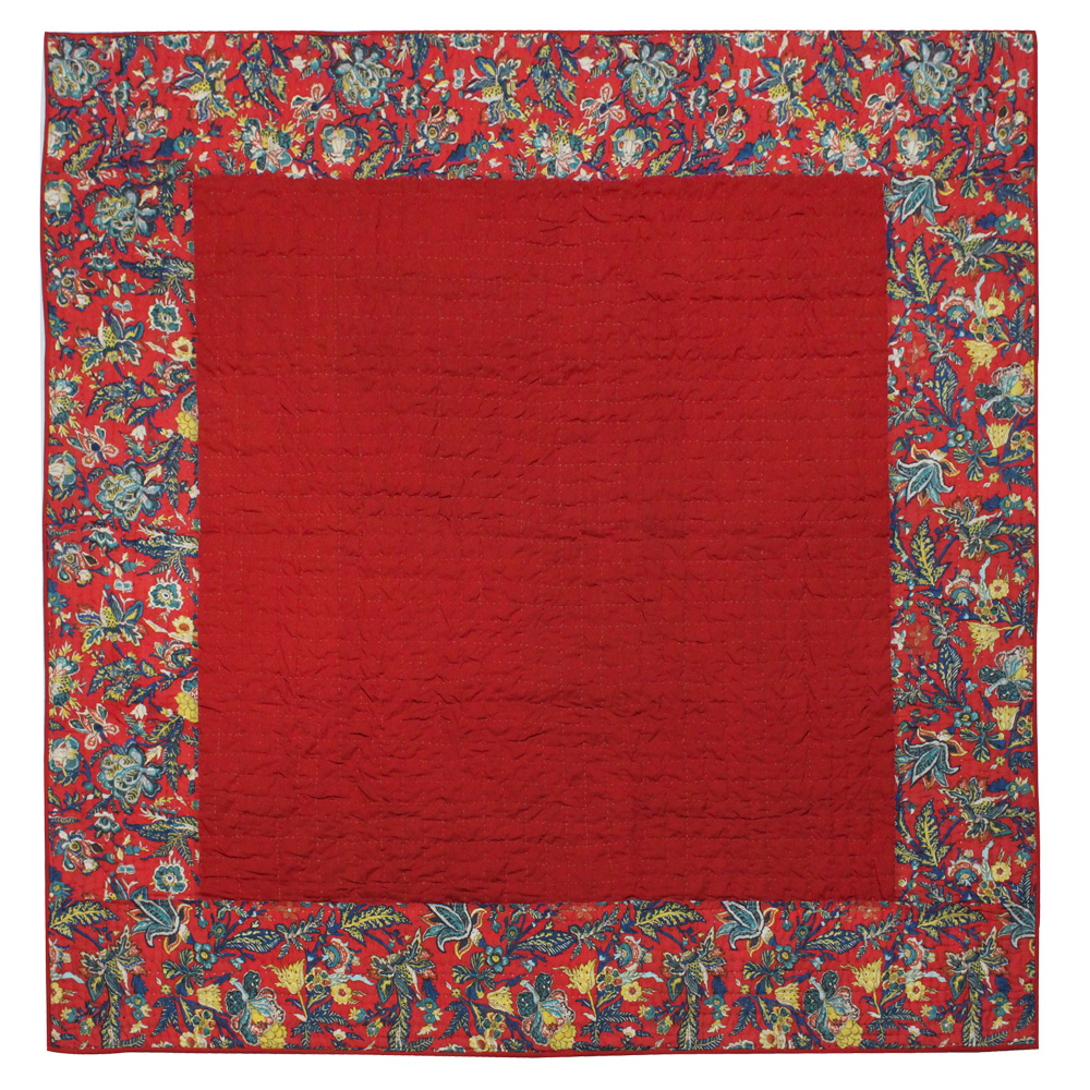"Rouge Champ Twin Quilt 65""W x 85""L"