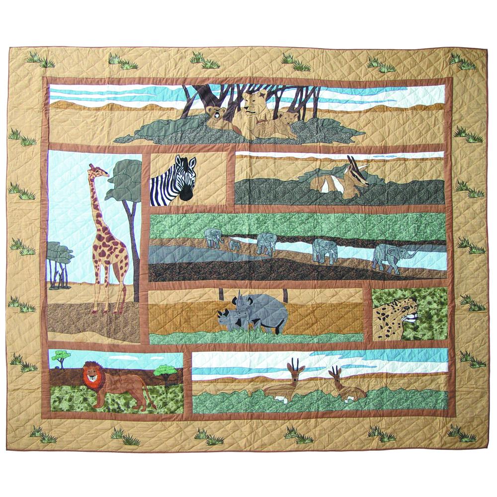 """Safari Twin Quilt 65""""W x 85""""L"""