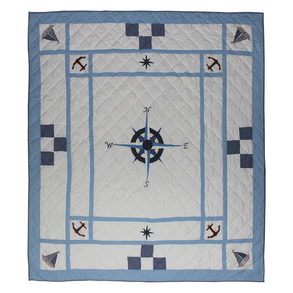 "Star of the Sea Twin Quilt 65""W x 85""L"