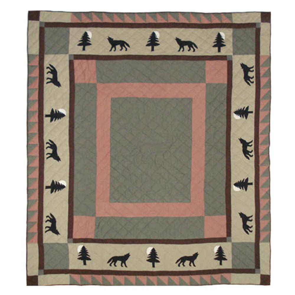 """Wolf Trail Twin Quilt 65""""W x 85""""L"""