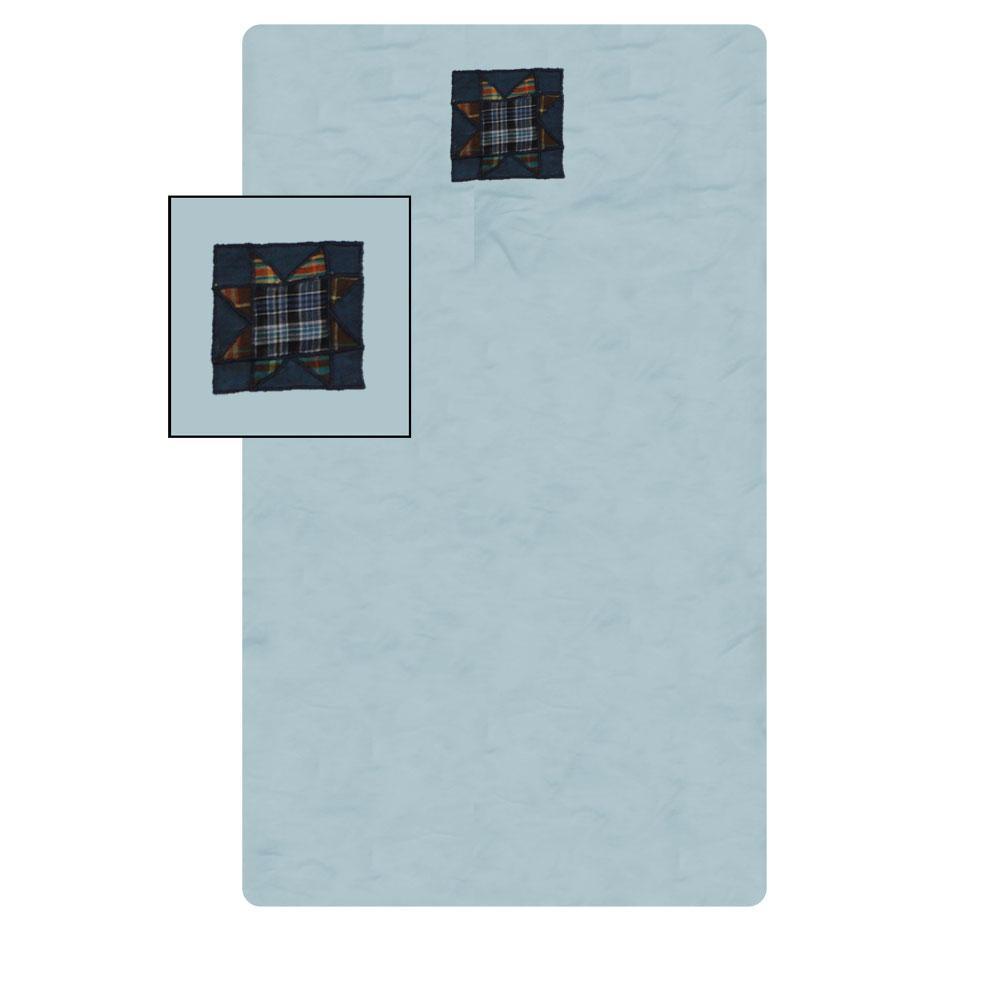"""Denim Burst Crib Sheet 28""""W x 53""""L"""