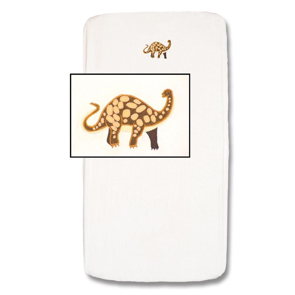 "Dinosaur Crib Sheet 28""W x 53""L"