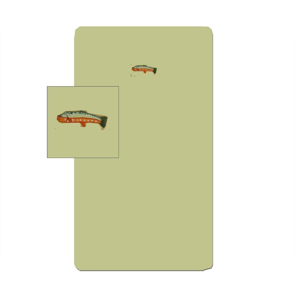 "Fly Fishing Crib Sheet 28""W x 53""L"