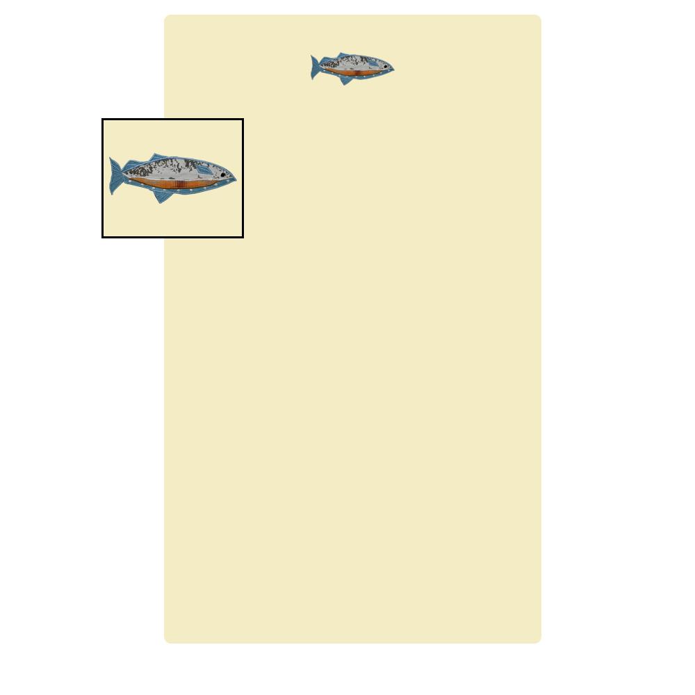 "Gone Fishing crib sheet set crib 28""w x 53""l"