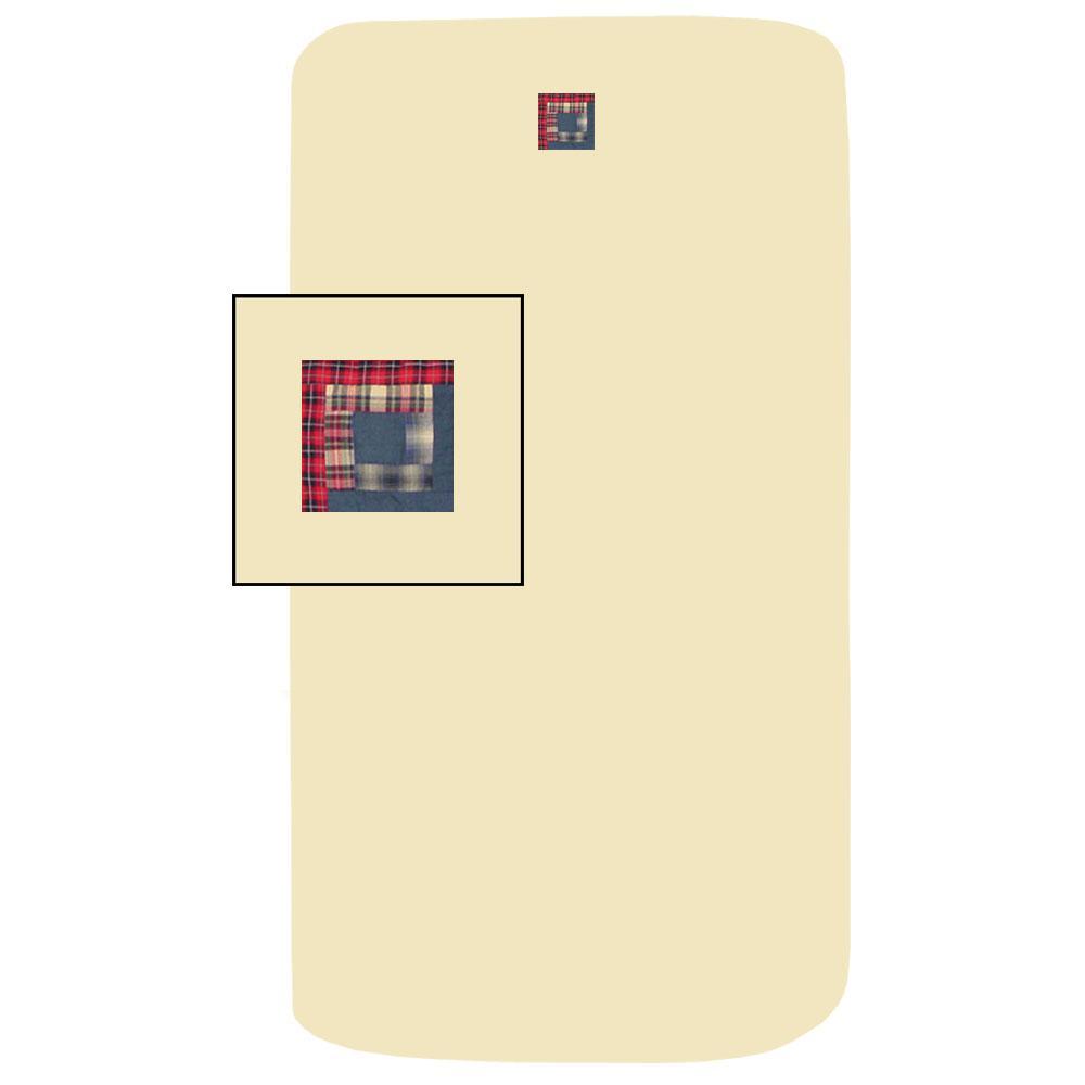 "Red Log Cabin Crib Sheet 28""W x 53""L"
