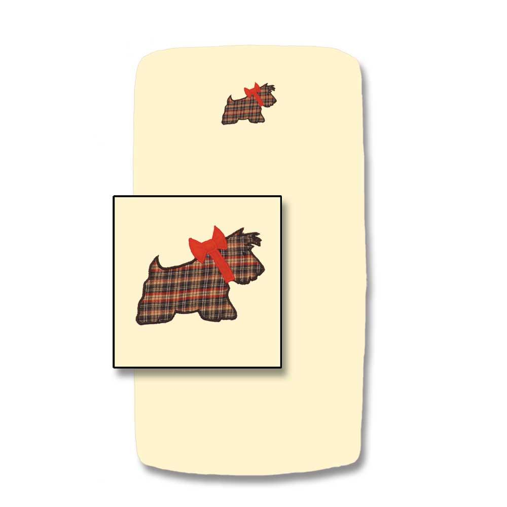 "Scottie Crib Sheet 28""W x 53""L"